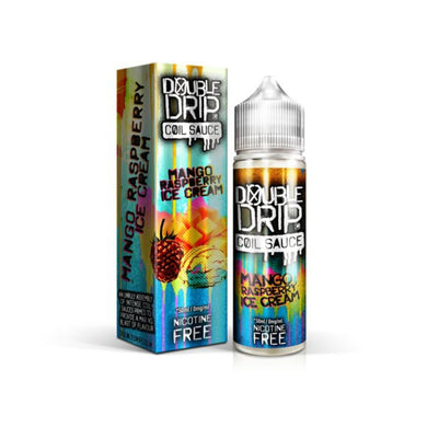 Double Drip Mango Raspberry Ice Cream Short Fill E-Liquid 50ml - Loony Juice UK