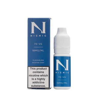 Nicotine Shot 18MG 70% VG By Nic Nic - Loony Juice UK