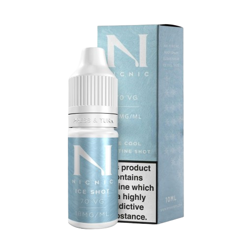 Ice Cool Nicotine Shot 18MG 70% By Nic Nic - Loony Juice UK