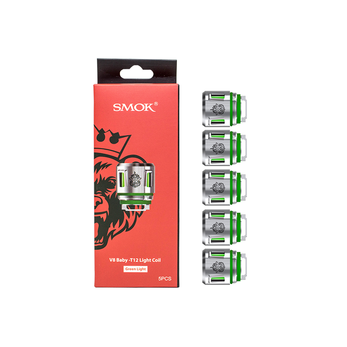 Smok Coil - TFV8 Baby Coils - 5 Pack [T12 Green Light] - Loony Juice UK