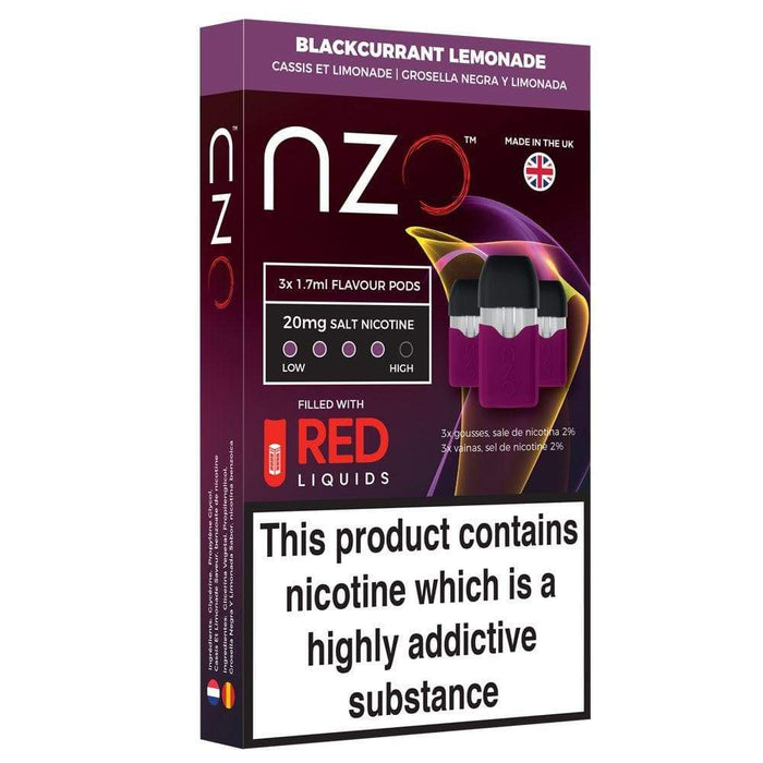 NZO -Blackcurrant & Lemonade Pre Filled Pods Pack of 3