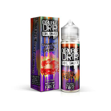 Double Drip Strawberry Laces & Sherbet Short Fill E-Liquid 50ml - Loony Juice UK