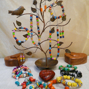fair-trade-upcycled-metal-jewellery-stand-recycled-crayon-necklaces-earrings-bracelets-wooden-puzzle-box-heart-stone