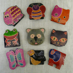 1100729a-Small-Square-Leather-Purses-Hippo-Bee-Orange-Cat-Frog-Koala-Brown-Cat-Butterfly-Puffin-Red-Elephant-blue-head-