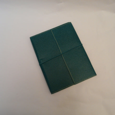 fairtrade-upcycled-cotton-A5-notebook-teal-with-elastic
