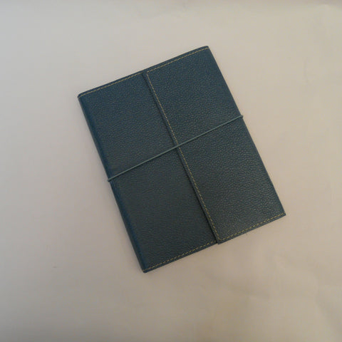 1945-fairtrade-upcycled-cotton-A5-notebook-slate-blue-with-elastic