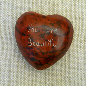 Heart Shaped Pebble - You Are Beautiful