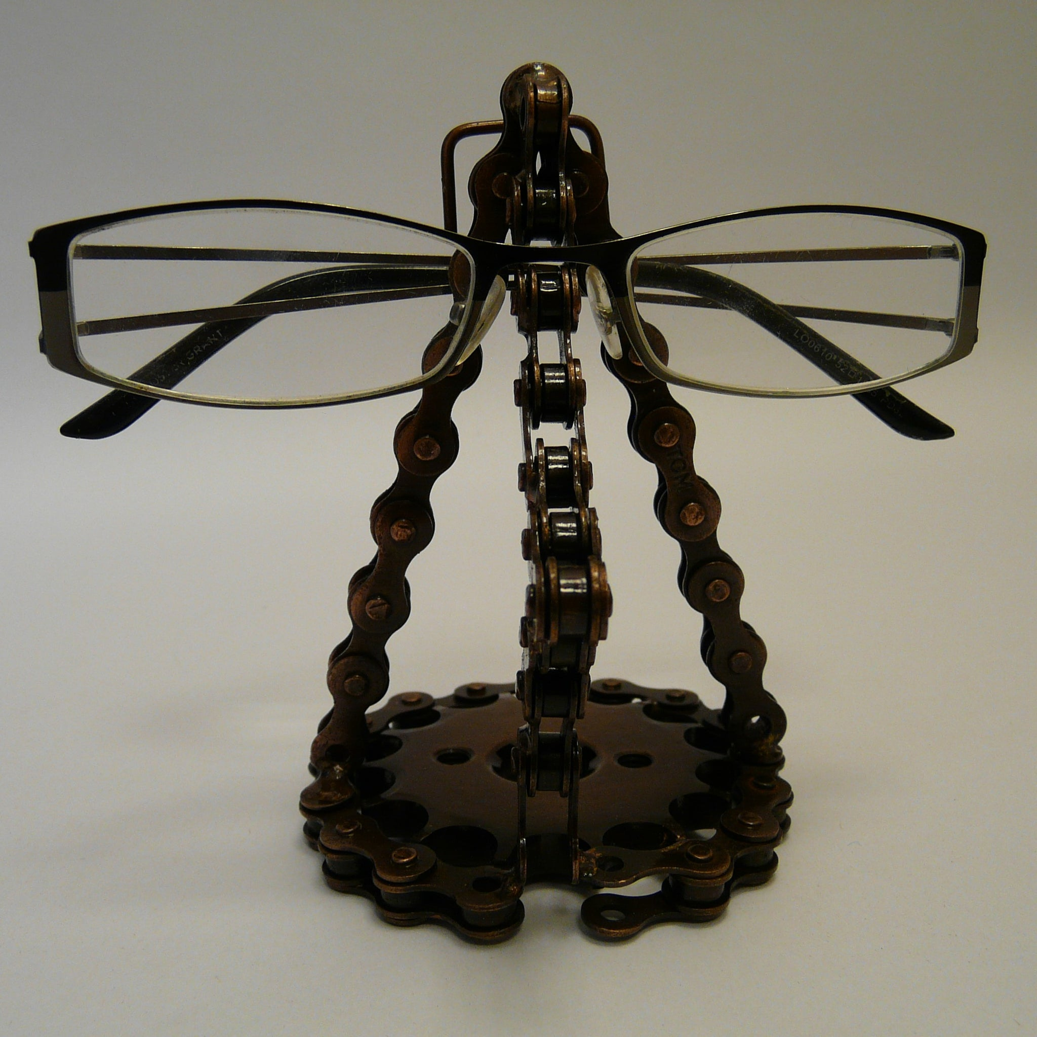 Upcycled Bike Chain Glasses Holder Nose