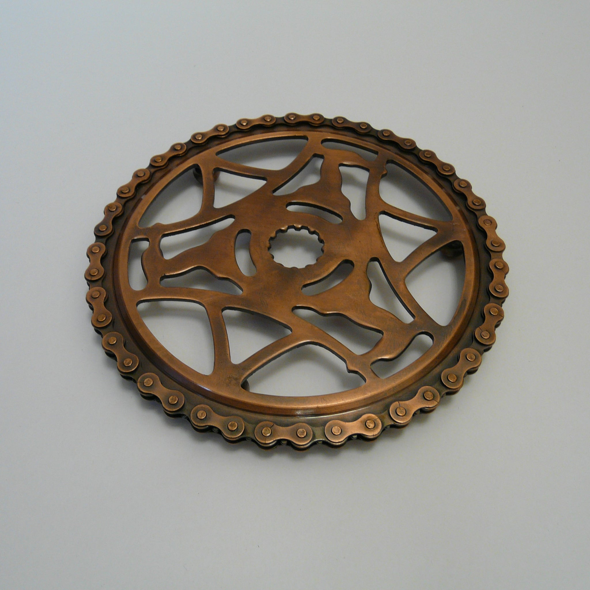Upcycled Bike Chain Cog Trivet