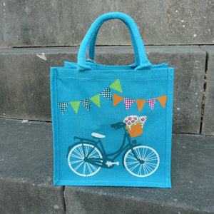 fair-trade-jute-shopping-bag-square-blue-ladies-bike-bicycle-white-navy-basket-bunting