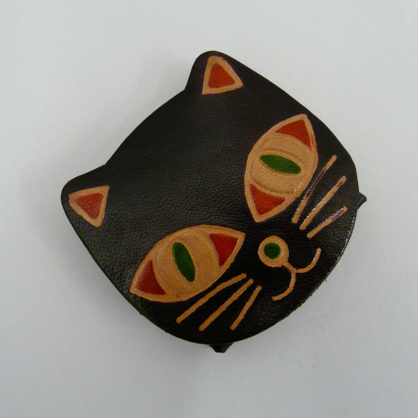 fair-trade-handcrafted-small-leather-coin-purse-cat-chocolate-brown-face