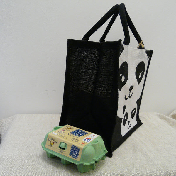 fair-trade-jute-shopping-bag-square-black-2-pandas-adult-baby-sideview