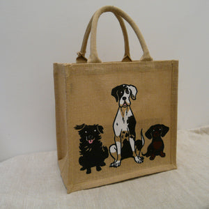 fair-trade-jute-shopping-bag-square-beige-natural-3-Dogs-sitting