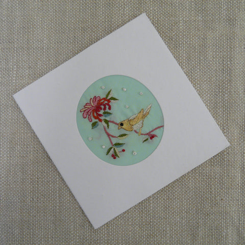 Honeysuckle and Bird Card