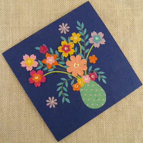 Flowers in Spotted Vase Card