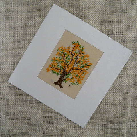 Yellow Blossom Tree Card