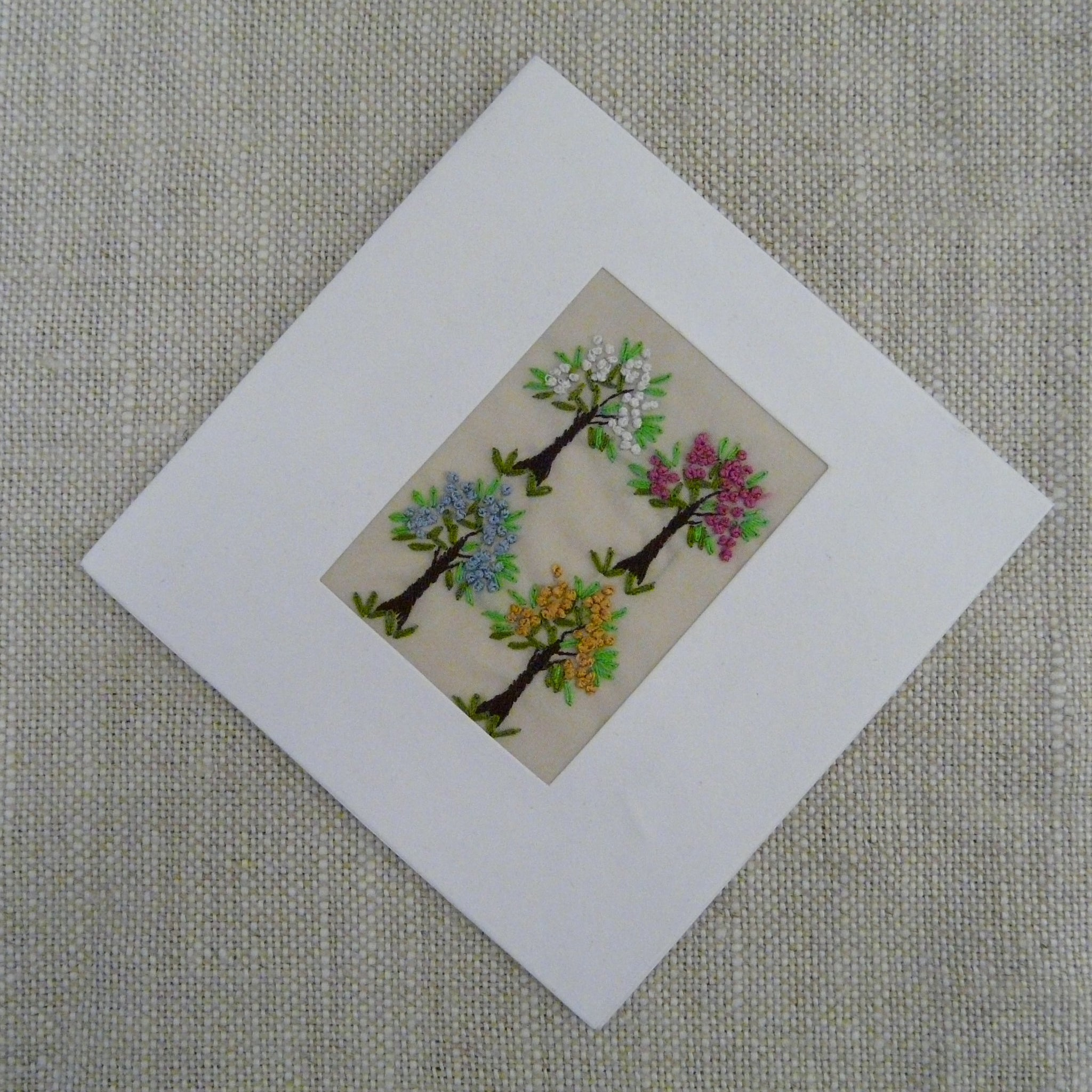 Four Blossom Trees Card