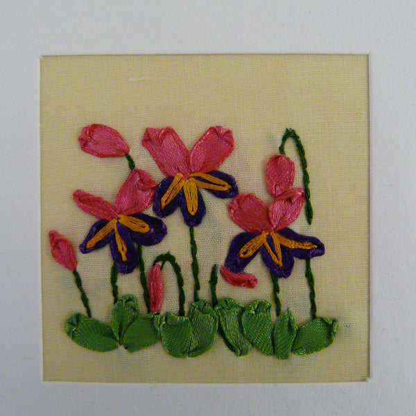 Cyclamen Ribbon Card
