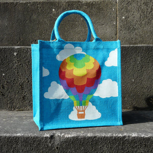 fair-trade-square-blue-jute-shopping-bag-multicoloured-hot-air-balloon-white-clouds