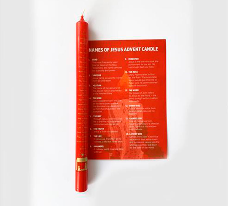 Name of Jesus Advent Candle and Card