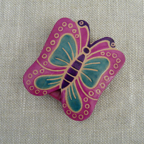fair-trade-handcrafted-small-leather-coin-purse-butterfly-pink-turquoise-wings-purple-body-antennae