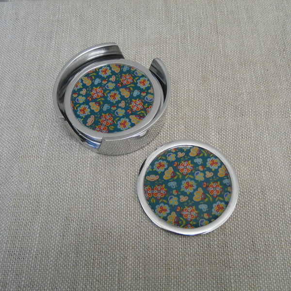 P1110184-Fair-Trade-Recycled-Aluminium-Flower-Coaster-Set-Holder-with-1-coaster-Green