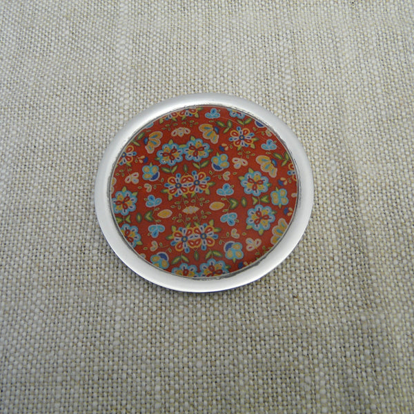 P1110195-Fair-Trade-Recycled-Aluminium-Flower-Single-Coaster-Red