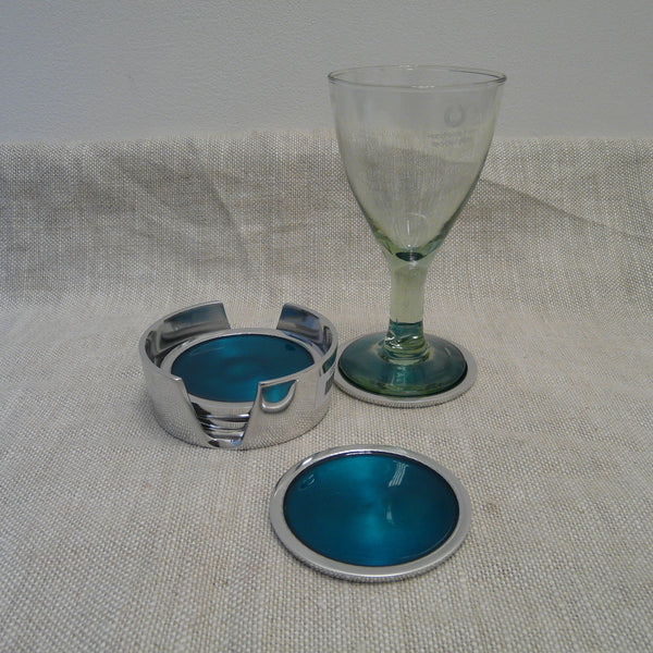 P1110253-Fair-Trade-Recycled-Aluminium-Turquoise-Coaster-set-with-glass