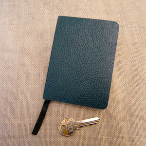 P1110307-Handmade-paper-leather-look-A7-Notebook-Teal-green-with-key