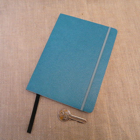 P1110324-Fair-trade-Handmade-paper-leather-look-notebook-journal-turquoise-with-key