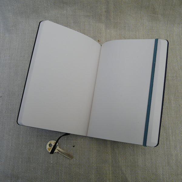 P1110332-Fair-trade-Handmade-paper-leather-look-notebook-journal-slate-blue-open-with-key