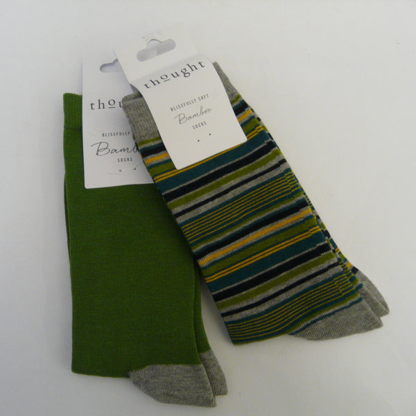 P1110529-Bamboo-Mix-7-11-Socks-Solid-Jack-plain-Green-with-grey-heals-and-toes-Kennet-with-main-colour-grey-assorted-width-stripes-in-yellow-black-green-teal-grey-tops-heals-toes