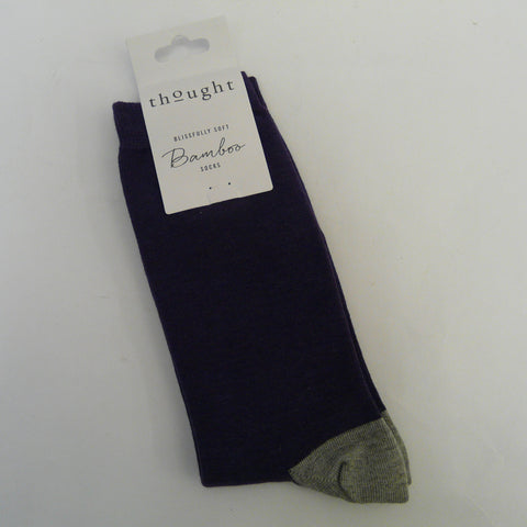 Bamboo-Mix-7-11-Socks-Solid-Jack-plai-Navy-with-grey-heal-and-toe