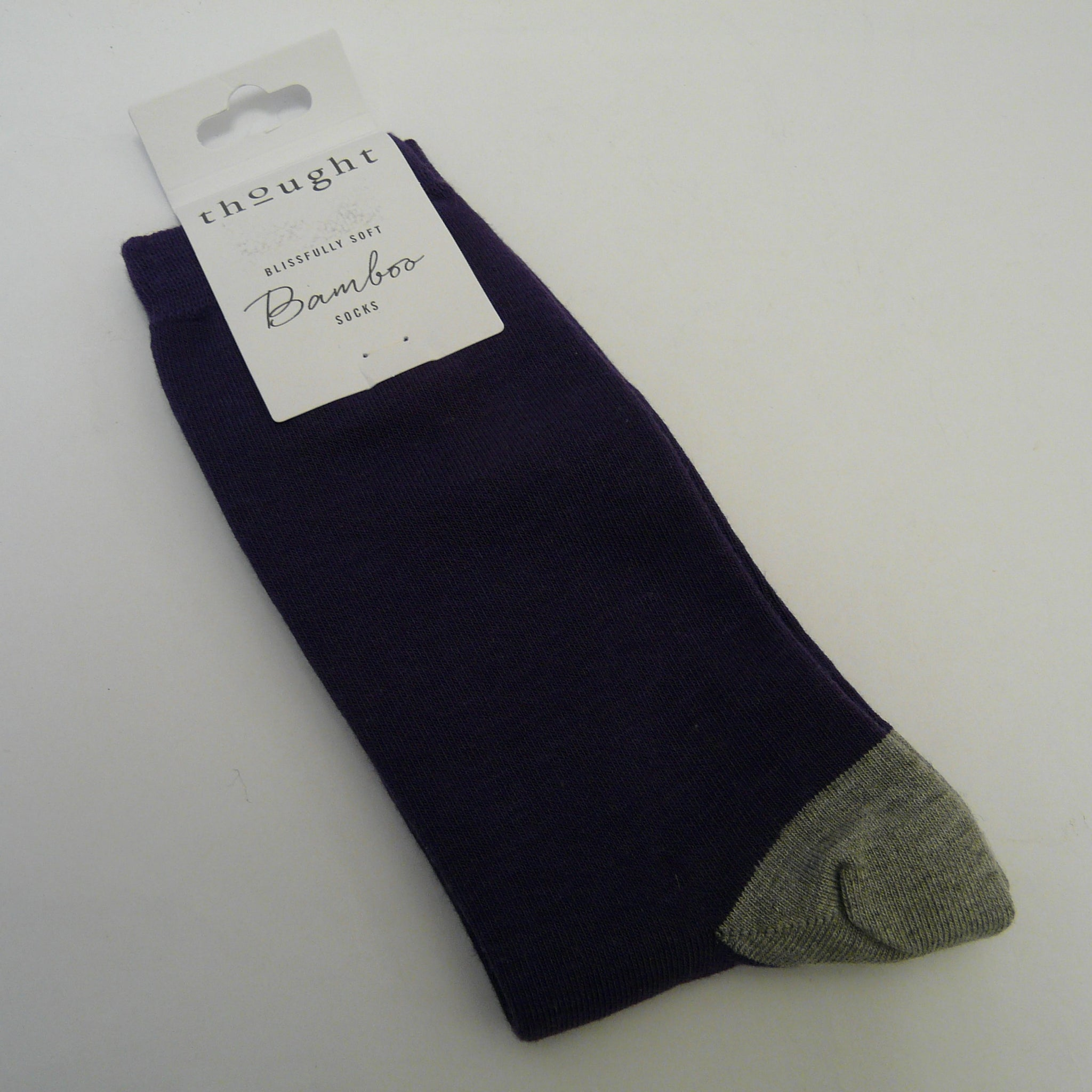 Purple Plain Solid Jack Socks