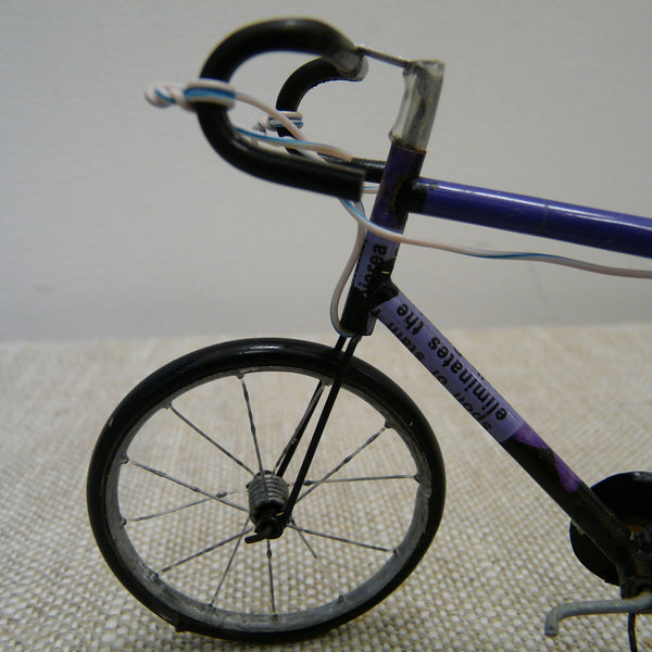 Model Racing Bicycle made from Upcycled Cans