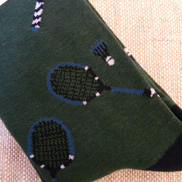 Forest Green Badminton Sports Socks 7-11