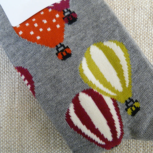 Light Grey Hot Air Balloon Socks 4 - 7