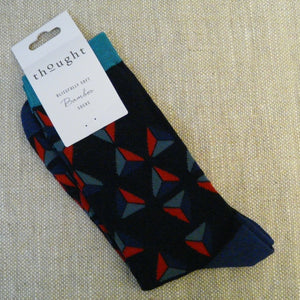 Dark Navy Triangle Socks