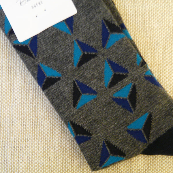 Dark Grey Marle Triangle Socks
