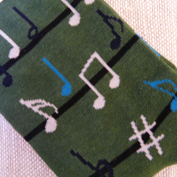Olive Green Luis Music Socks