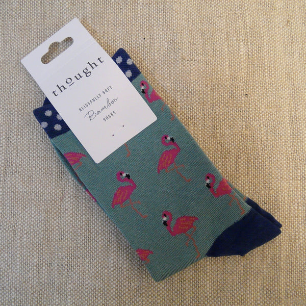 Green Flamingo Socks 4 - 7