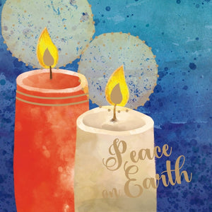 Peace Candles Christmas Cards