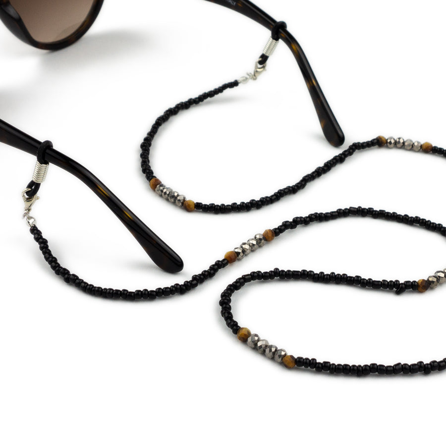 Sunglasses Chain / Black Beaded