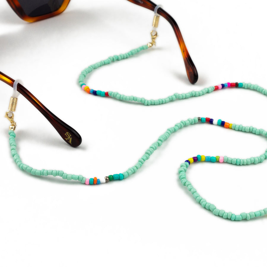 Sunglasses Chain / Turquoise Beaded