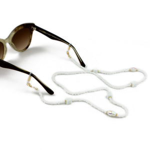 Sunglasses Chain / White Stone Beaded