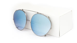 SKY BLUE MIRROR CLIP ON - Fashion Women's Sunglasses Sienna Alexander London