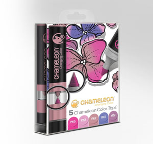 Chameleon 5 Color Tops Floral Tones Set front packaging.