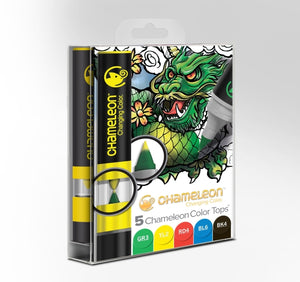 Chameleon 5 Color Tops Primary Tones Set front packaging.