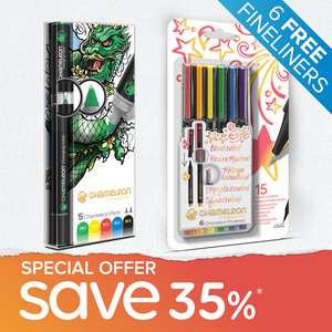 Special Offer Bundle - 5 Chameleon Pens + 6 FREE Chameleon Fineliners