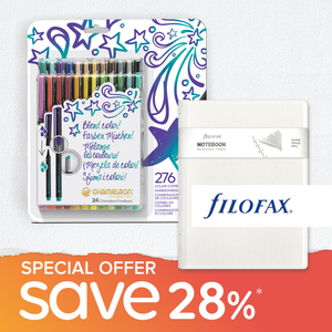 Special Offer Bundle - 24 Chameleon Fineliners & Filofax Notebook